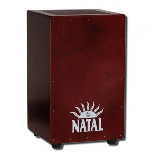 Кахон NATAL DRUMS CJAN-L-SW-BR CAJON LARGE BLACK WITH DARK RED PANEL купить
