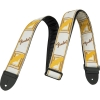 Купить FENDER 2 MONOGRAMMED WHITE BROWN YELLOW STRAP