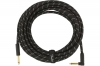 FENDER CABLE DELUXE SERIES 25' ANGLED BLACK TWEED фото