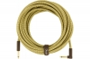 FENDER CABLE DELUXE SERIES 25' ANGLED TWEED фото
