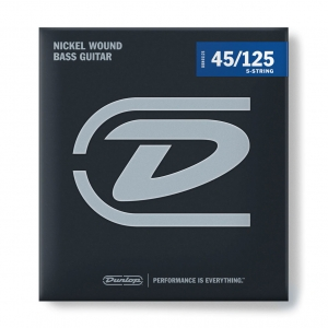 Струны Для Бас Гитары DUNLOP DBN45125 NICKEL WOUND BASS STRINGS 45-125 | 5-STRING купить