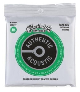 Струны Для Гитары MARTIN MA530S Authentic Acoustic Marquis Silked 92/8 Phosphor Bronze Extra Light (10-47) купить