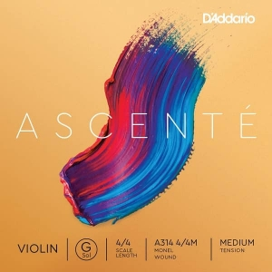 Струны Для Скрипки D`ADDARIO A314 4/4M Ascent_ Violin String G 4/4M купить