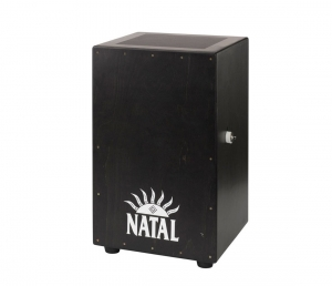 Кахон NATAL DRUMS CAJON LARGE BLACK WITH BLACK PANEL купить