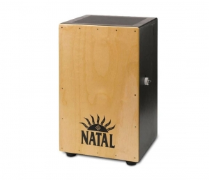 Кахон NATAL DRUMS CAJON LARGE BLACK WITH NATURAL PANEL купить