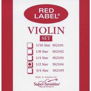 Струны Для Скрипки SUPER-SENSITIVE SS2104 RED LABEL VIOLIN SET 1/2 купить
