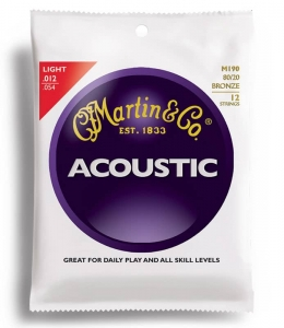 Купить MARTIN M190 Traditional Acoustic 80/20 Bronze Light 12-String (12-54) цена 278 грн